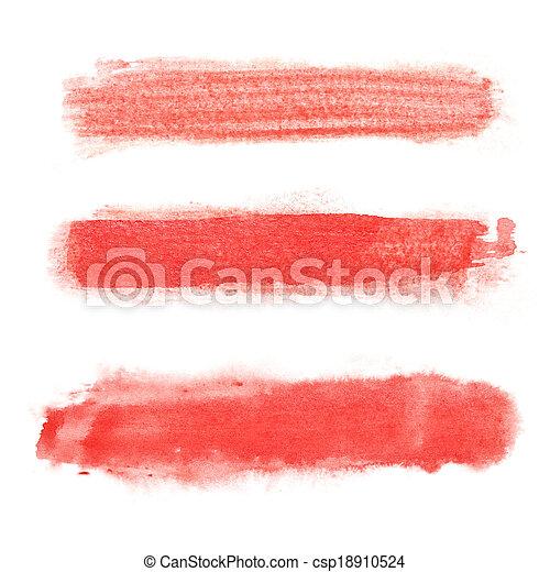 Red brush strokes - csp18910524