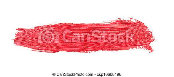Red brush strokes  - csp16688496