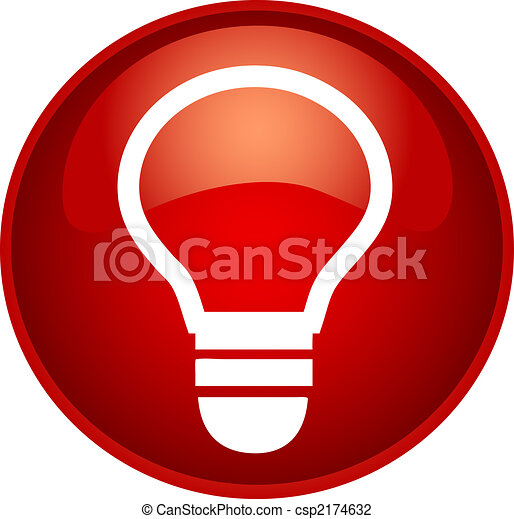 red bulb button - csp2174632