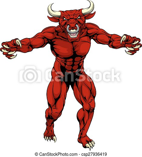 Red bull sports mascot - csp27936419