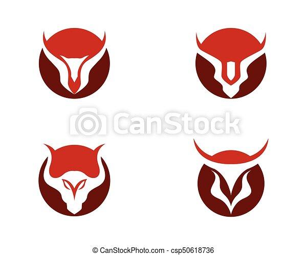 red bull taurus logo template vector icon illustration rh canstockphoto com taurus logo vector taurus logo tattoo