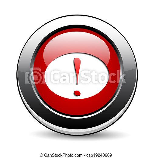 Red button - csp19240669
