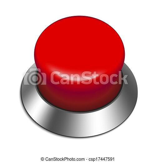 Red button - csp17447591
