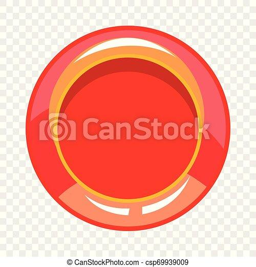 Red button icon, cartoon style - csp69939009