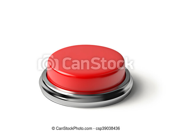 Red button isolated on white - csp39038436
