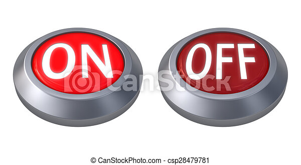 red button isolated - csp28479781