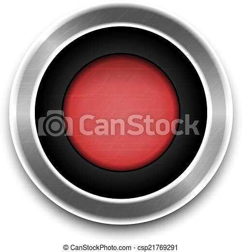 Red Button isolated. Vector - csp21769291