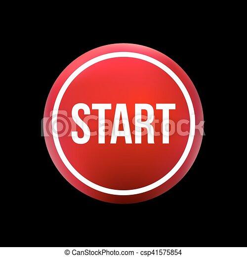 red button start - csp41575854