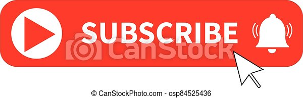 red button subscribe of channel on white background. subscribe button sign. subscribe button for social media symbol. subscribe to video channel, blog and newsletter. flat style - csp84525436