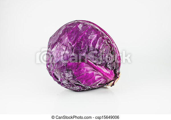 Red cabbage on a white background - csp15649006