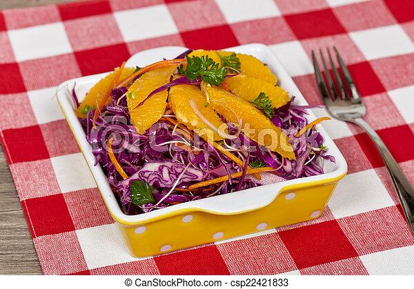 Red Cabbage Salad - csp22421833