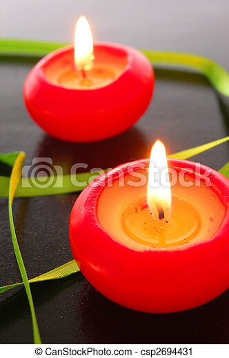 red candle light - csp2694431