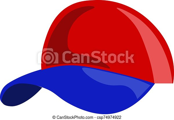 Red cap, illustration, vector on white background. - csp74974922