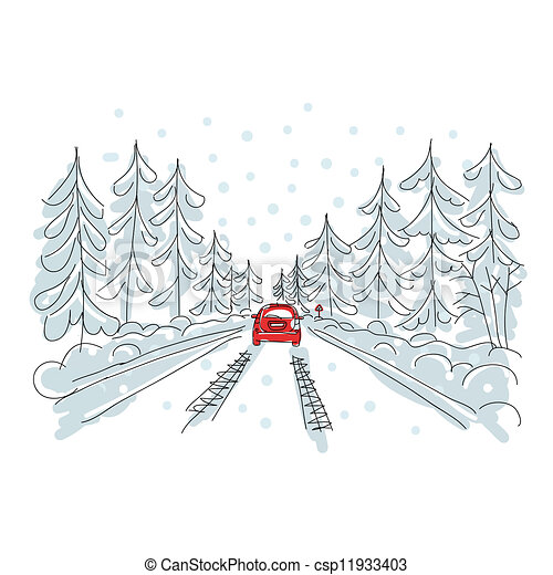 13 Winter Driving Tips To Keep You And Your Loved Ones - Illustration,  Cliparts & Cartoons - Jing.fm