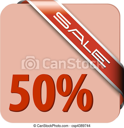 Red card for big discount - csp4389744