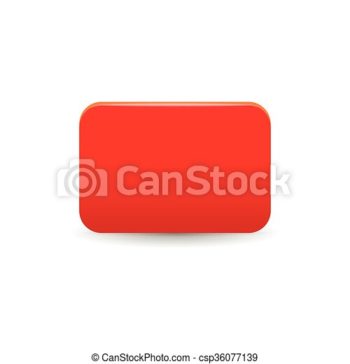 Red card icon, cartoon style - csp36077139