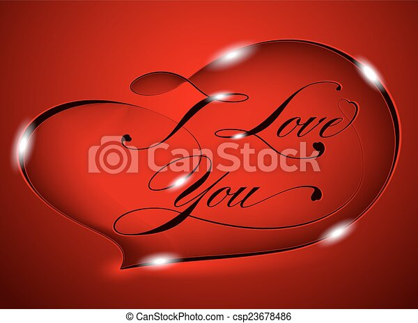 Red card %u2013 I Love You - csp23678486
