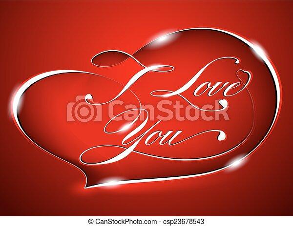 Red card %u2013 I Love You - csp23678543