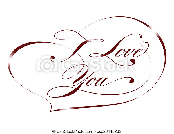 Red card %u2013 I Love You, vector - csp20446262