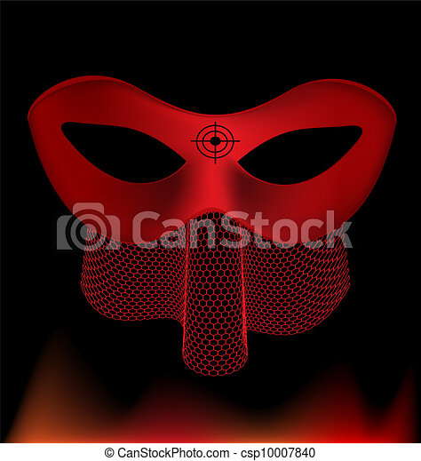 red carnival half-mask - csp10007840