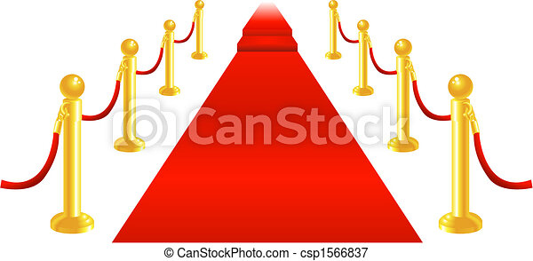 Red Carpet and Velvet Rope - csp1566837