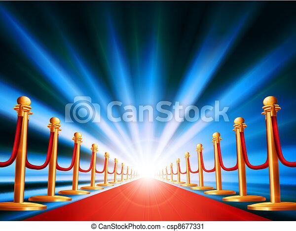 Red carpet entrance - csp8677331