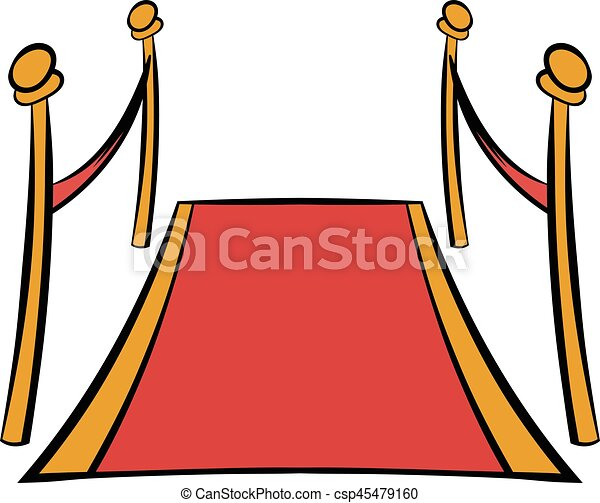 Red carpet icon cartoon red carpet icon in cartoon style for Cartoon carpet