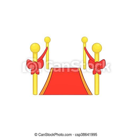 Red carpet icon, cartoon style - csp38641995