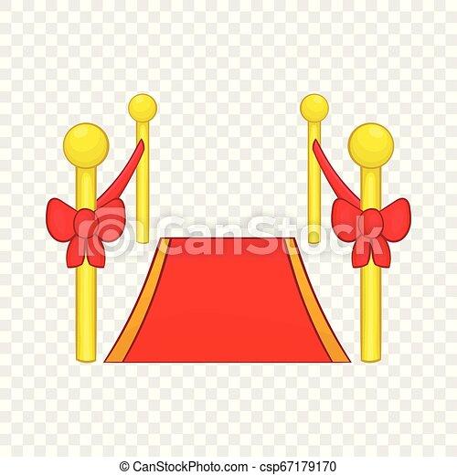 Red carpet icon, cartoon style - csp67179170