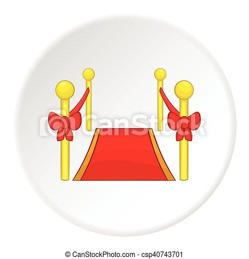 Red carpet icon, cartoon style - csp40743701