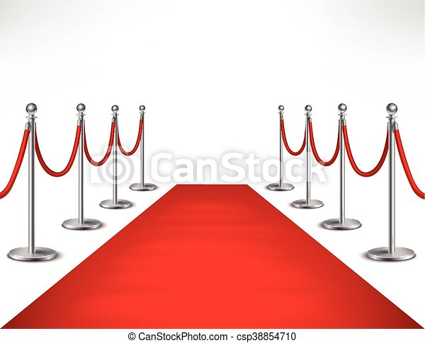 red carpet illustration red event carpet and silvery vector clip rh canstockphoto com red carpet vector free download red carpet vector art