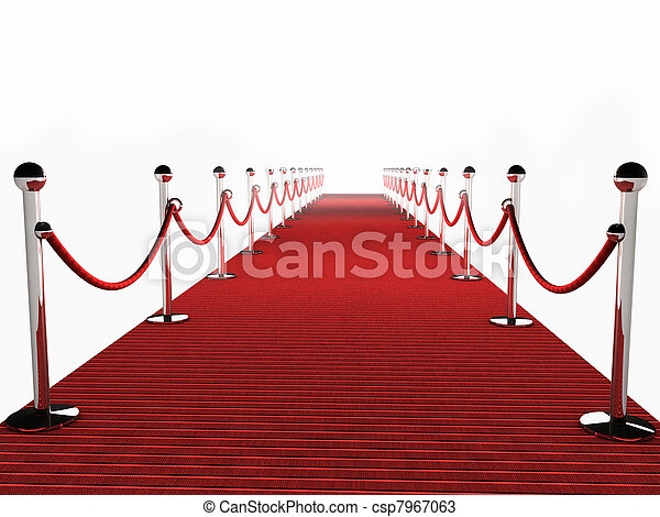 Red Carpet over white Background - csp7967063