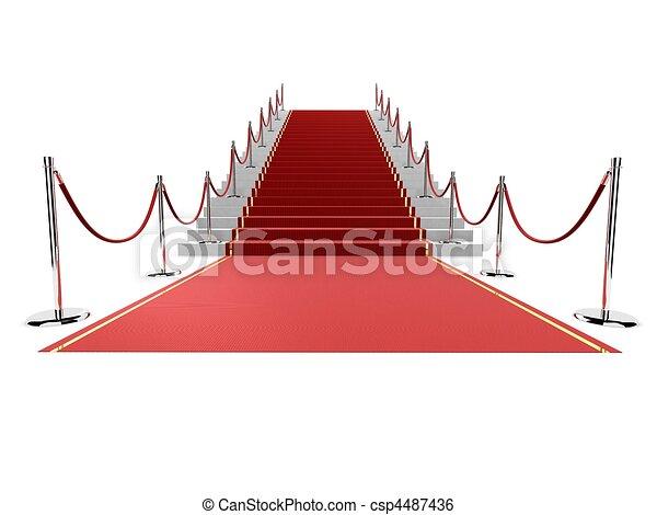 red carpet  - csp4487436