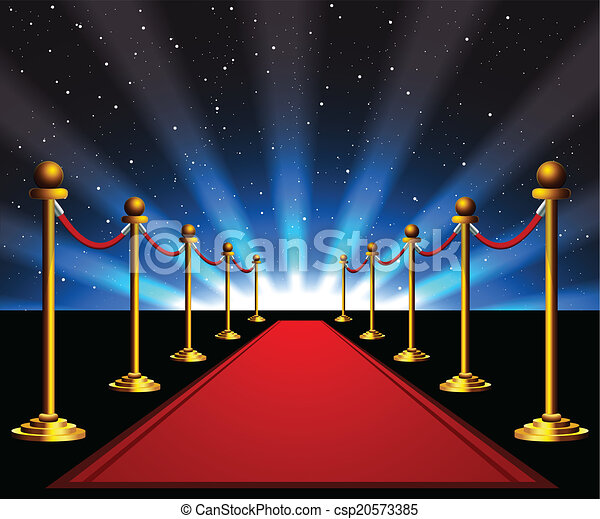 Red carpet to the stars - csp20573385