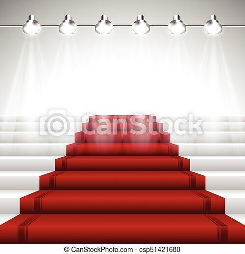 Red Carpet under Spotlights - csp51421680