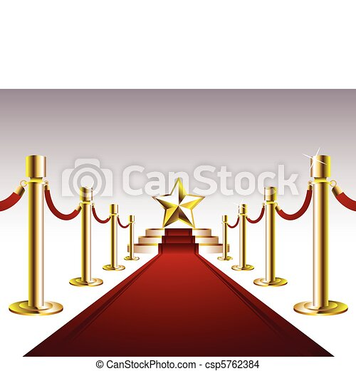 Red Carpet with Golden Star - csp5762384