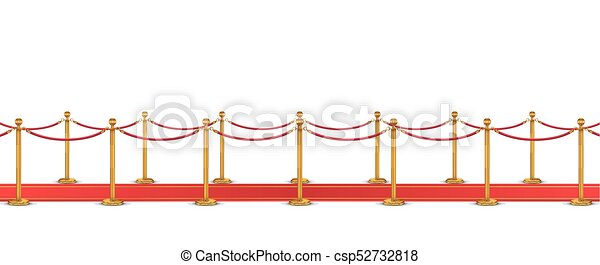 red carpet with rope barrier - csp52732818