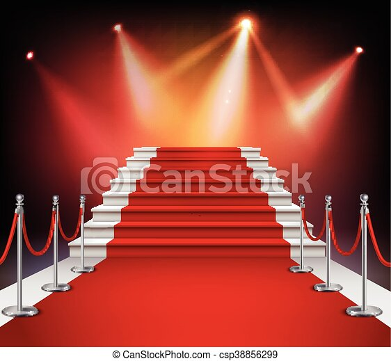 Red Carpet With Stairs - csp38856299