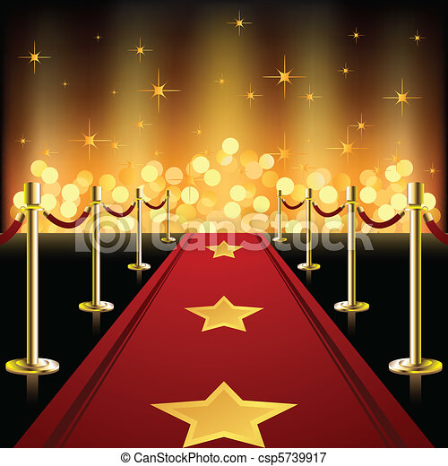 Red Carpet with Stars - csp5739917