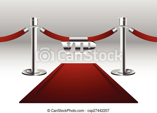 Red Carpet with VIP Sign - csp27442207