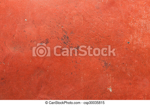 Red cement wall - csp30035815