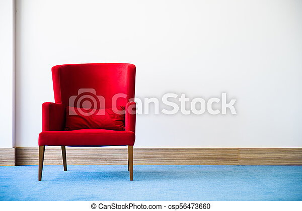 Swell Red Chair In White Interior Pabps2019 Chair Design Images Pabps2019Com