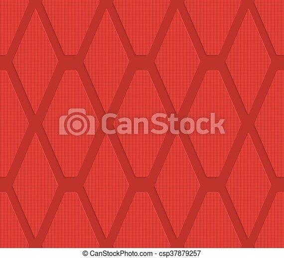 Red checkered diamonds - csp37879257