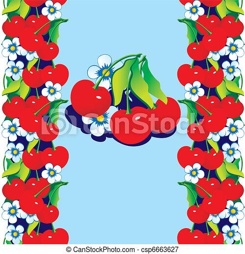 Red cherries. - csp6663627