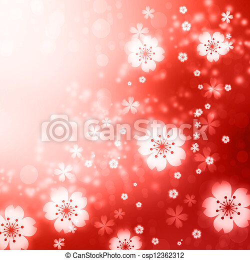 red cherry blossoms background red colored cherry blossoms background