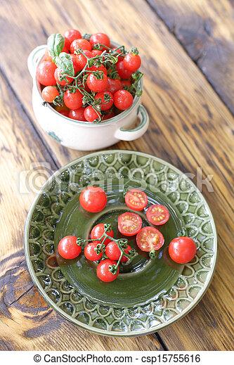 Red cherry tomatoes - csp15755616