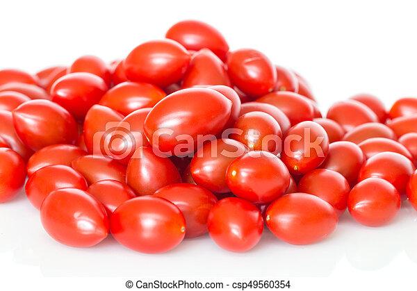 Red cherry tomatoes. - csp49560354