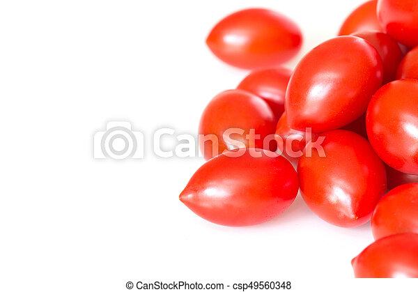 Red cherry tomatoes. - csp49560348