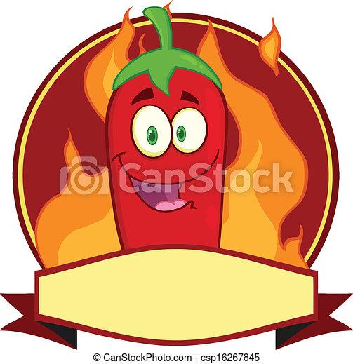 Red Chili Pepper Cartoon Logo - csp16267845