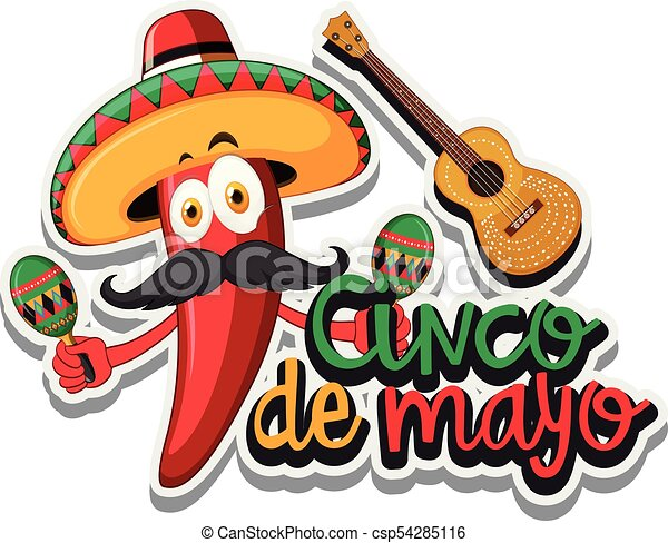 red chili with mexican hat and maracas illustration vector clip art rh canstockphoto com maracas clipart black and white maracas instrument clipart